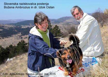 Slovenska raziskovalca postenja Božena Ambrozius in dr. Iztok Ostan
